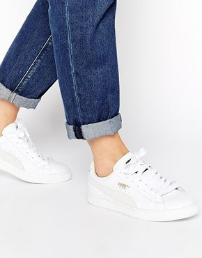 new concept 35818 11428 Puma Basket Classic White Trainers ...
