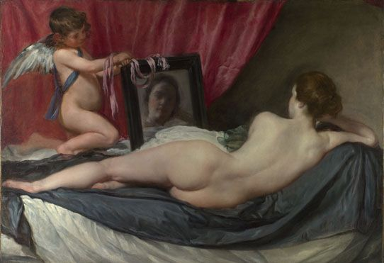 The Toilet of Venus (The Rokeby Venus) (1647 - 51)  Diego Valazquez  The National Gallery, London