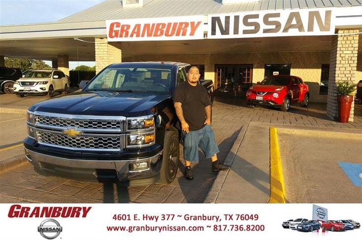 Congratulations John on your #Chevrolet #Silverado 1500 from Ricky Rivas at Granbury Nissan!  https://deliverymaxx.com/DealerReviews.aspx?DealerCode=G586  #GranburyNissan