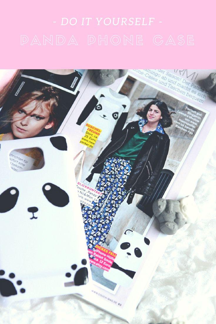 Super süßes DIY Panda Phone Case selber machen