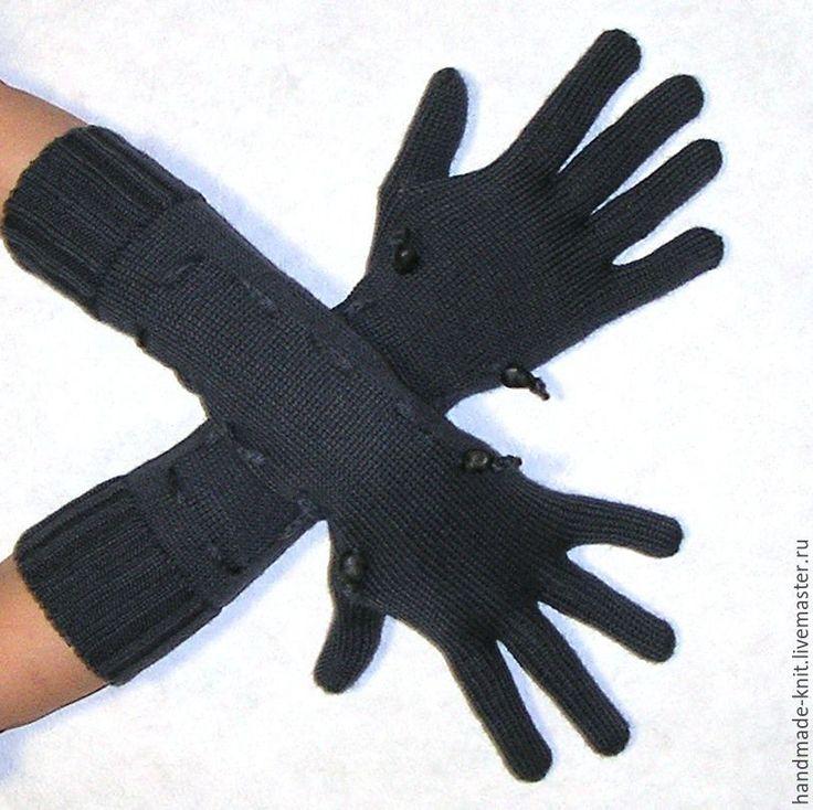 Купить Перчатки темно-серые - перчатки, перчатки женские, перчатки вязаные…