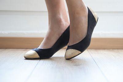 Refashion,Schuhe mit Farbe besprühen