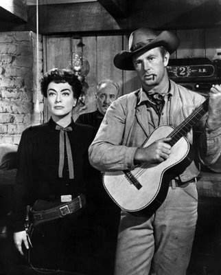 """Joan Crawford and Sterling Hayden in """"Johnny Guitar"""""""