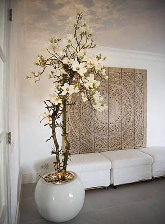 white washed decorative teak wood king bed headboard 72 - Kopfteil Plant Knig