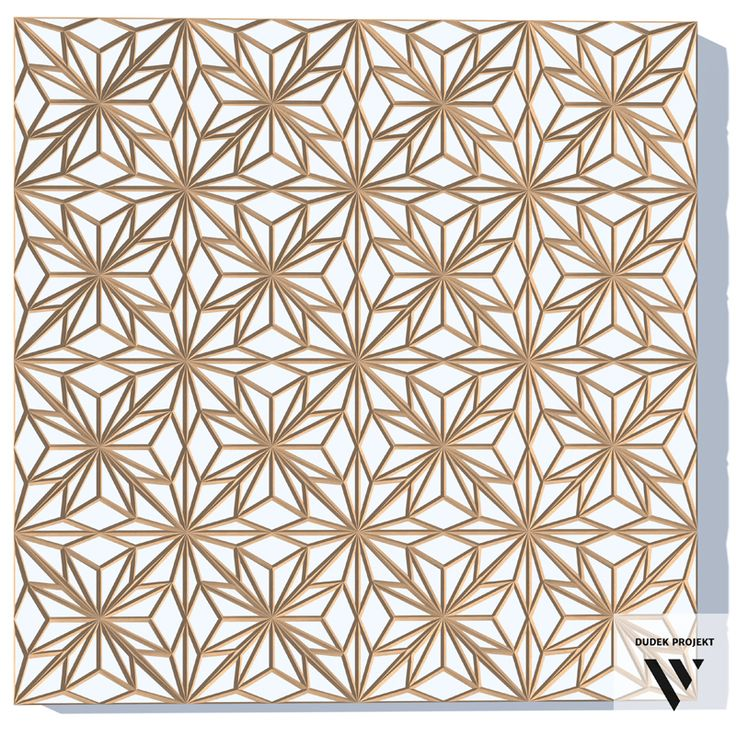 "DUDEK projekt. Panel ścienny ""KORONKA"" zrobiony z MDFu. Wall panel ""LACE"", made of MDF."