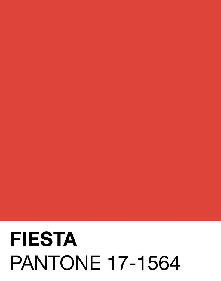 Fiesta Pantone 17-1564 for Spring/Summer 2016. Vibrant and beaming with colour this pantone palette would make anyone happy! Credit: Amanda Behrens-Pinterest