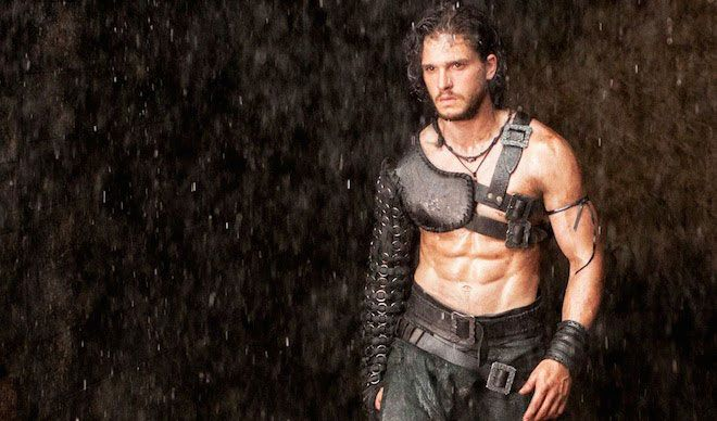 English actor, Kit Harington's six pack abs...