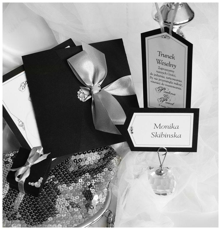 11 Best Zaproszenia ślubne Blackwhite Images On Pinterest Black
