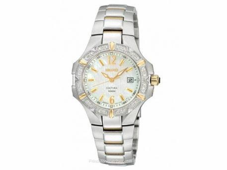 Ladies Coutura12 diamonds  Mother of Pearl Dial  Two-Tone