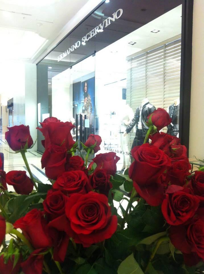 Ermanno Scervino store seen between the roses