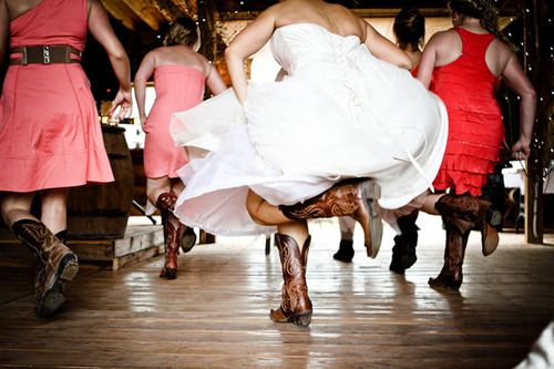17 Best Images About Wedding Dresses & Cowboy Boots On
