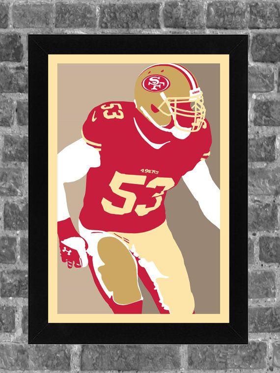 San Francisco 49ers NaVorro Bowman Portrait Sports Print Art 11x17