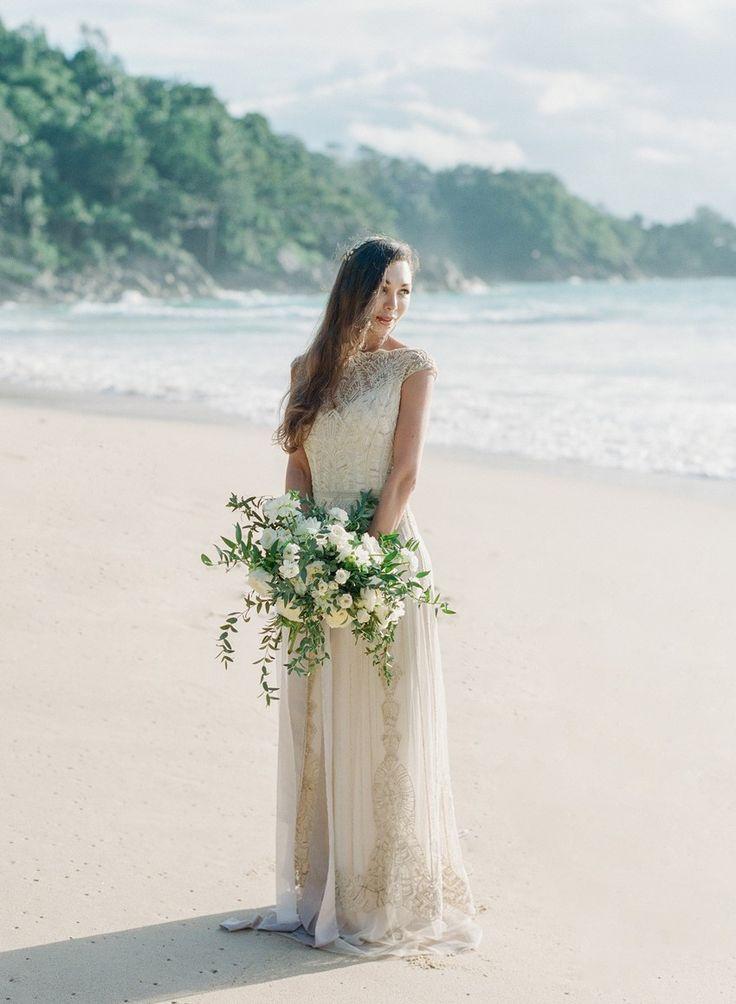 Fine Art Beach Wedding Bridal Look