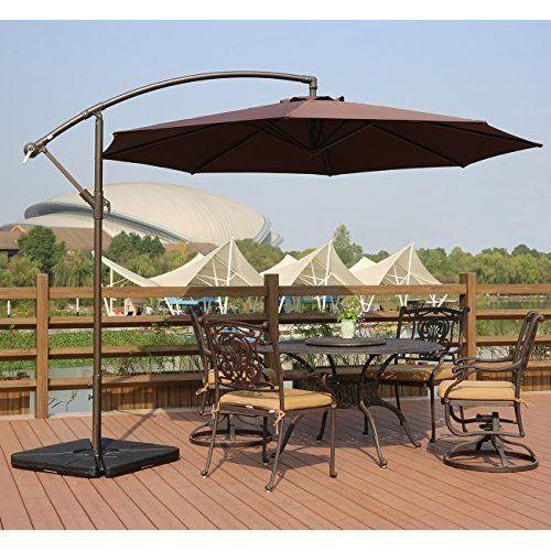Umbrella For Garden Pool With Gross Base And Crank Outdoor Activity  | Home & Garden, Yard, Garden & Outdoor Living, Garden Structures & Shade | eBay!