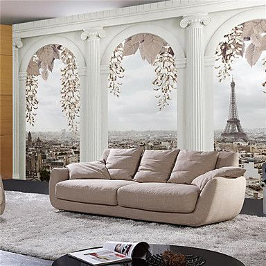 JAMMORY 3D Wallpaper For Home Contemporary Wall Covering Canvas Material Roman TowerXL XXL XXXL 5467530 2017 – $105.99