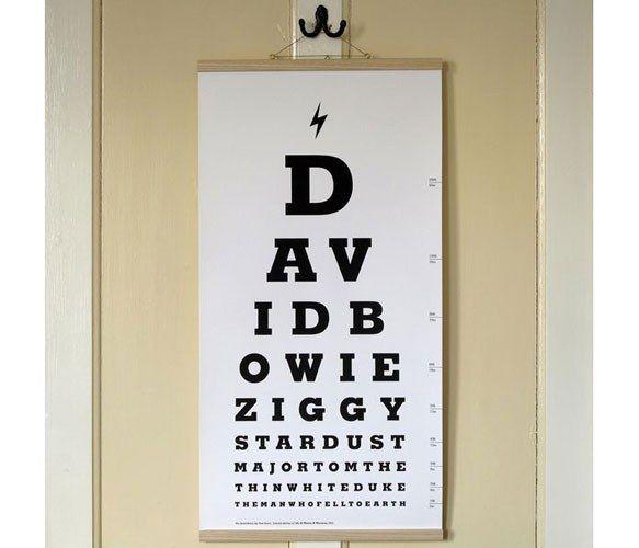 david bowie eye test chart