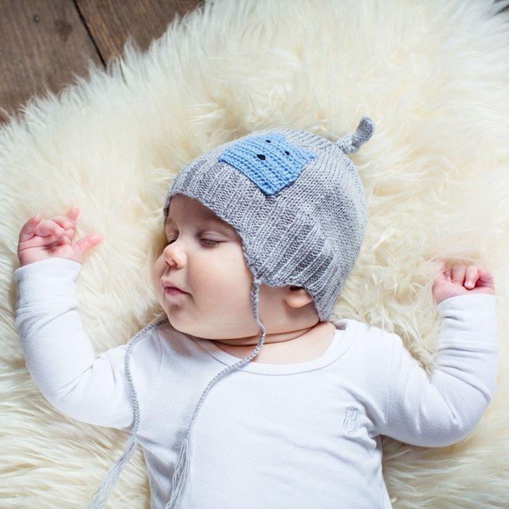 Acorn Infant Cashmere Grey Beanie