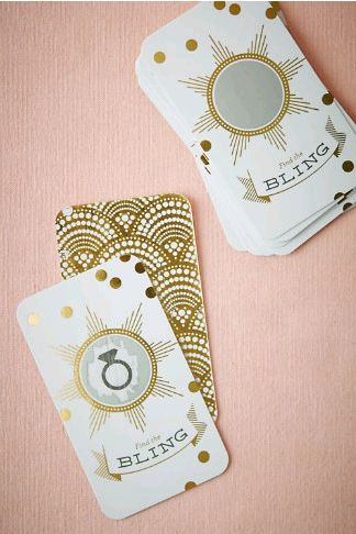fun bridal shower game | Bling Ring Scratch-Offs from @BHLDN