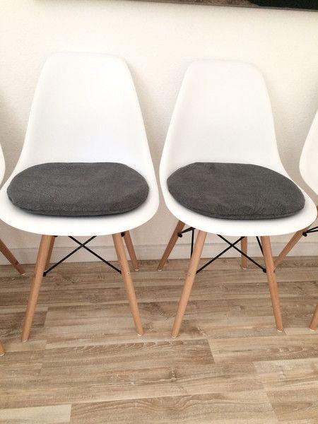 4er set filz sitzkissen rund 35cm 2 farbig graumeliert cremewei zum wenden gepolstert bei. Black Bedroom Furniture Sets. Home Design Ideas