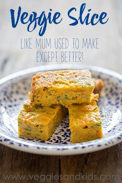 Healthy and delicious veggie slice. Packed full of veggies and dairy free.