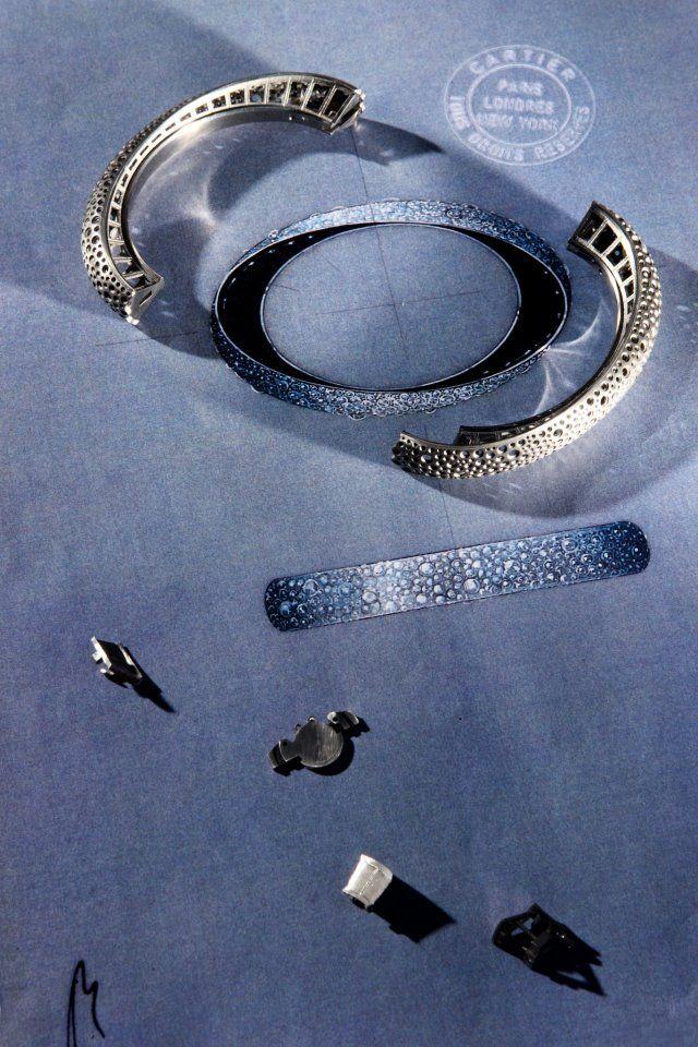Cartier : Bracelet - white gold, onyx, brilliants.  Philippe Gontier © Cartier 2012