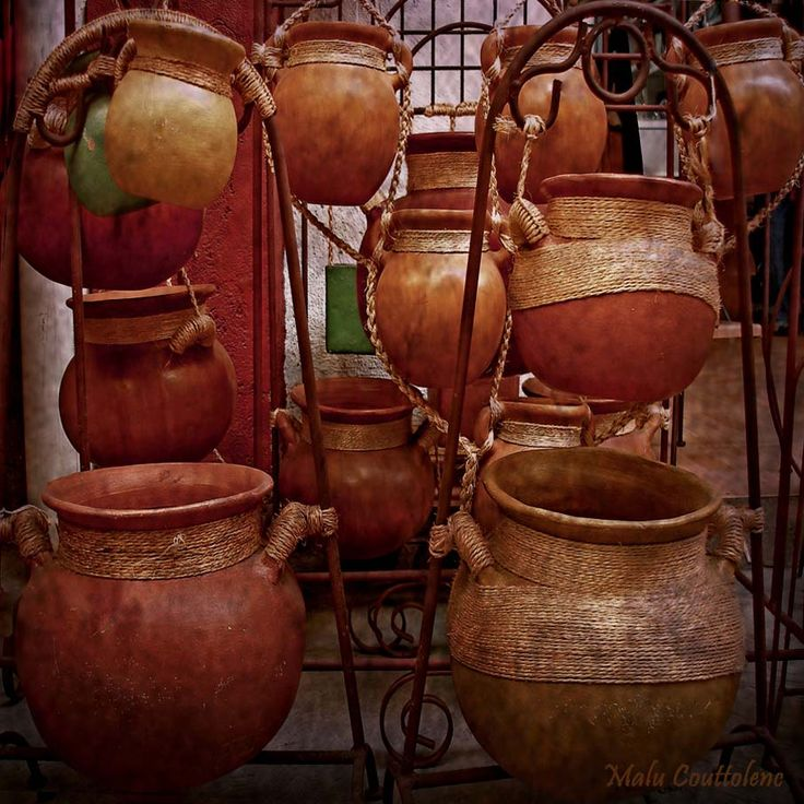 Mexican Clay Pots   Photo By Malu Couttolene | #Photography |
