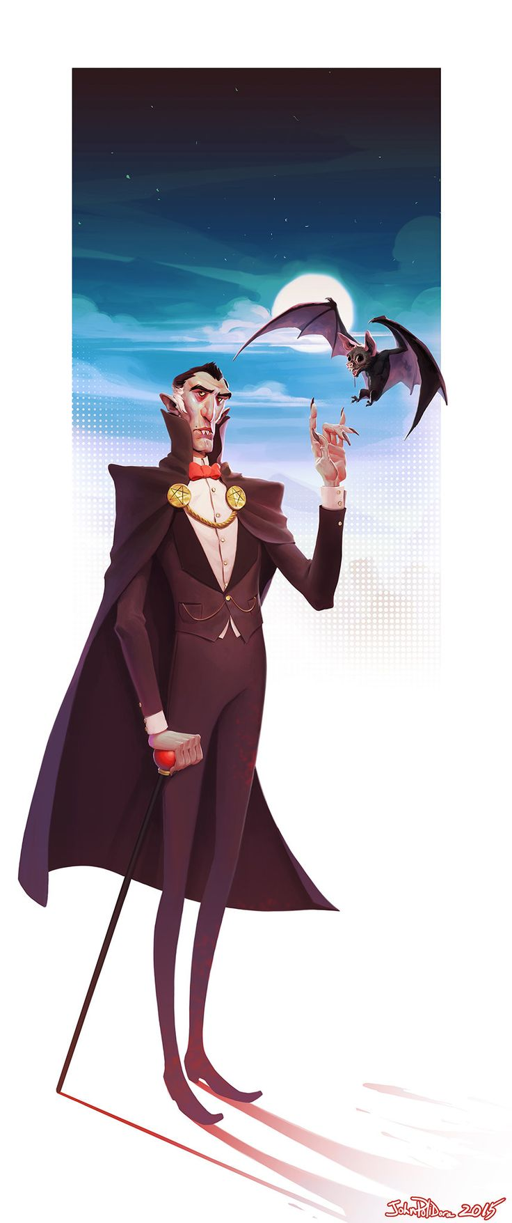Tonight I went back to this one...FINALLY...and finished it. I call it OG Dracula...referencing what vampires SHOULD look like....contemporary pop culture dreck sucks hard in comparison to classic portrayals, such as Bela Lugosi's Dracula, and the original Nosferatu.