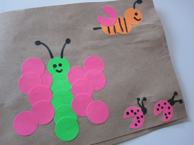 Stationary aisle bugs great for traveling blog art for Brown paper bag crafts for toddlers