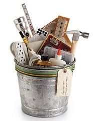 Gift idea - Housewarming Bucket, contractor gift basket,