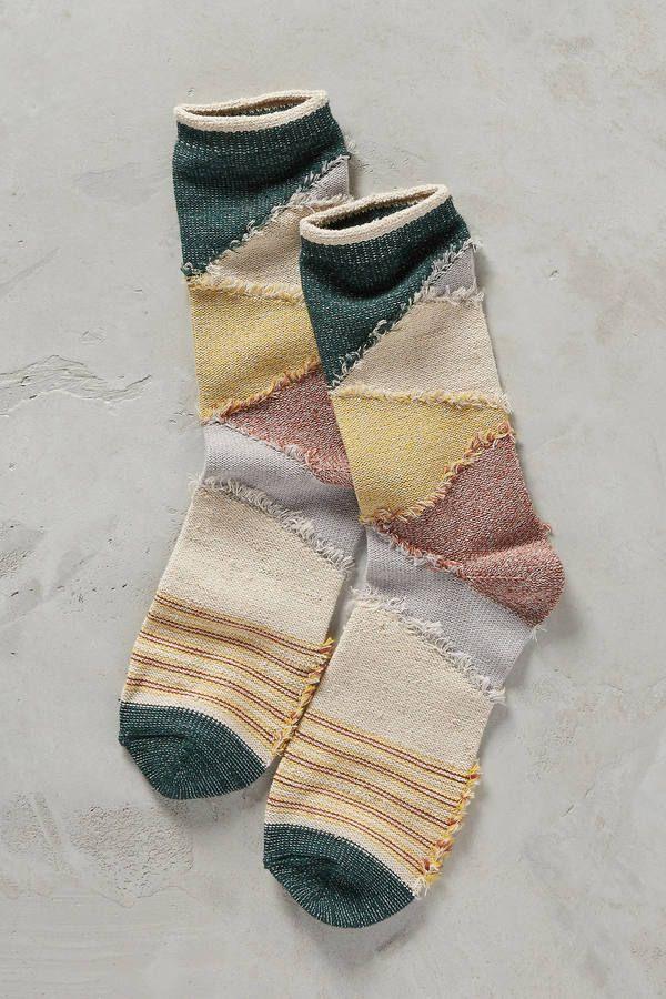 Tintoretta Patchwork Fringe Socks #gift #anthrofave