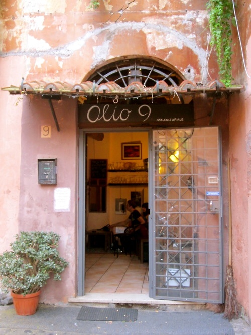 the nine series, in the trastevere area of rome.