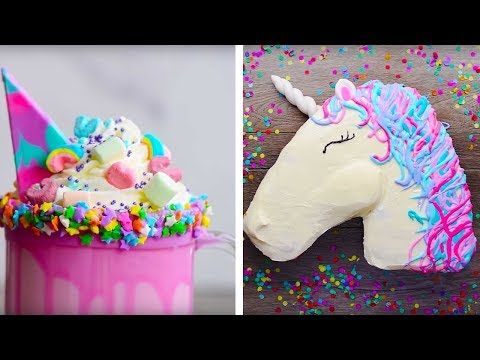 10 Amazing and Easy DIY Homemade Unicorn Themed Dessert recipes