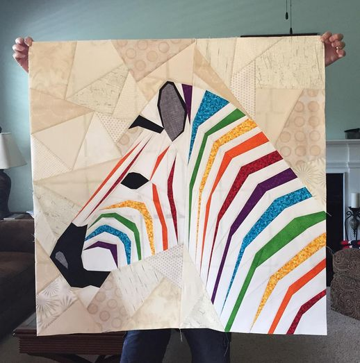 "Mega Zebra in Profile- A Pattern Release.From The Tartankiwi blog awesome zebra ""quilts"". Congratulations everybody did a great job"