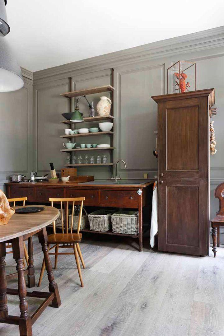 Vintage kitchen Freestanding kitchen, Interior, Dining