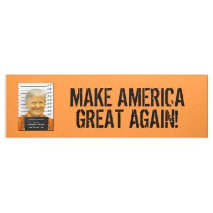 Trump Prison Mugshot Moron 45 MAGA Banner - gift for him present idea cyo design