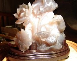 China Pond Agate Scuplture - 160mm by 170 by 65