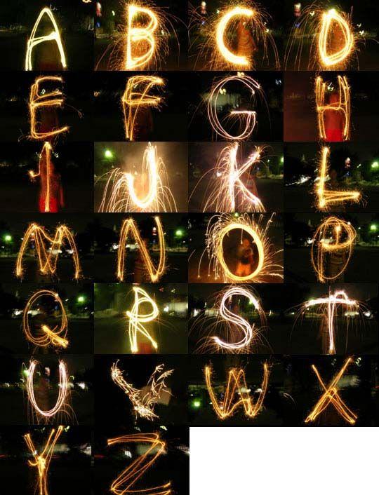 @Leslie McNeill:デイリーポータルZ:花火で、字を書く。