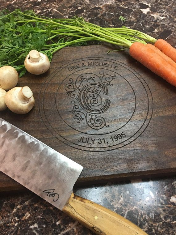 Personalized Cutting Board, Monogram Cutting Board, Custom Cutting Board, Engraved Cutting Board, Wedding Gift, Anniversary Gift, Engagement