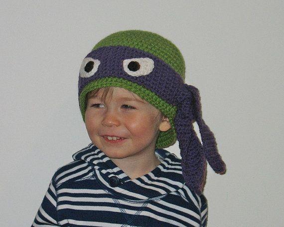 Ninja Turtle Hat Free Shipping Newborn Ninja by DeesCozyCreations, $32.99