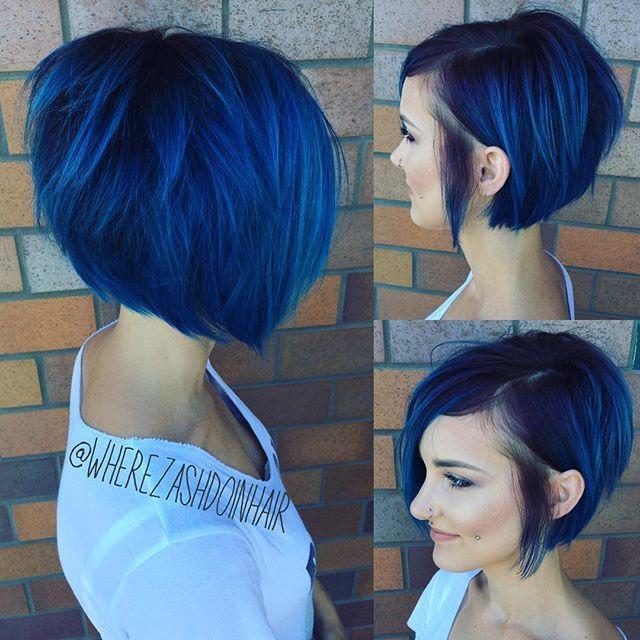 Midnight Blue is een haarkleur die dames met donker haar geprobeerd moeten hebben! - Kapsels voor haar