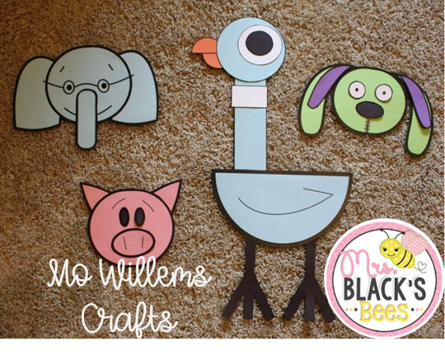 I wanted to hop on and share with you that I have made additions to my Pigeon Craft .  It is now a Mo Willems Crafts packet and includes ...