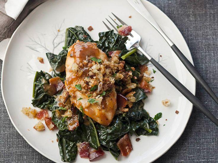 Maple glazed chicken breast with au jus