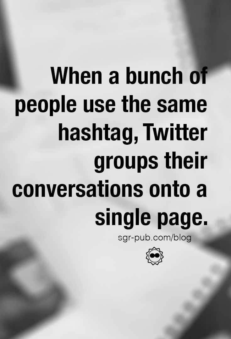 Hashtags (#hashtag) are used to do many things on Twitter. They can be used as a emotional vibe (#grateful) or to denote meaning (#sarcasm) or even just to be silly (#thispostisthebestyo). When a bunch of people use the same hashtag, Twitter groups their conversations onto a single page. If you've never clicked on a hashtag before, try it and you'll see.  A Twitter chat happens when a bunch of users assemble on Twitter at the same time and answer questions (or just converse) using a single…