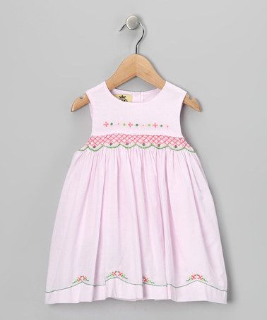 Take a look at this Pink & Green Floral Dress - Infant & Toddler by Lil Cactus on #zulily today!