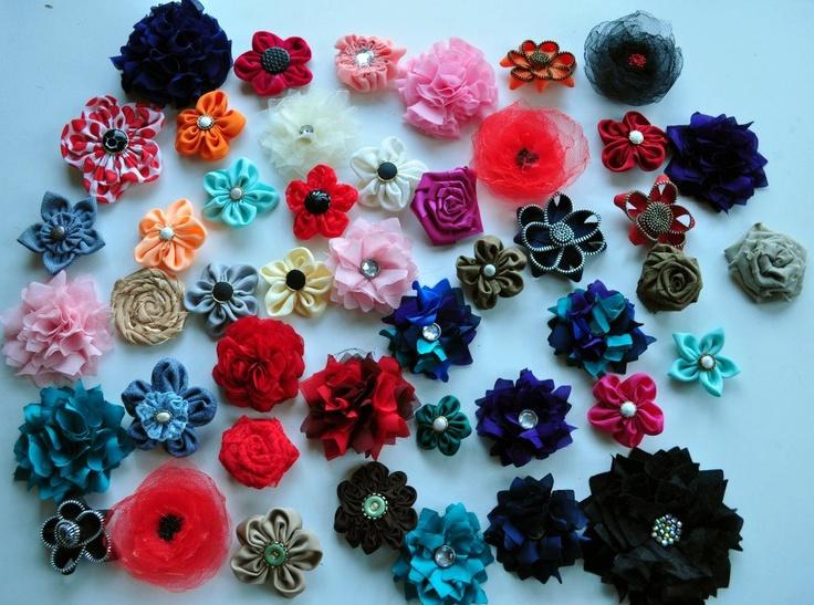 Floricele!! Brose, agrafe sau pe cordeluta.