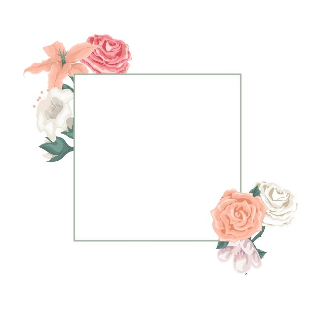 بطاقة جميلة مع اطار من الزهور و الورود الإطار الوردة الخزامى Png والمتجهات للتحميل مجانا Bridesmaid Invitation Flowers Rose