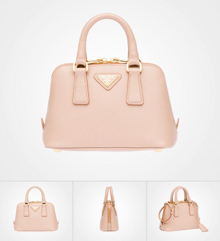 Saffiano leather mini-bag, Prada