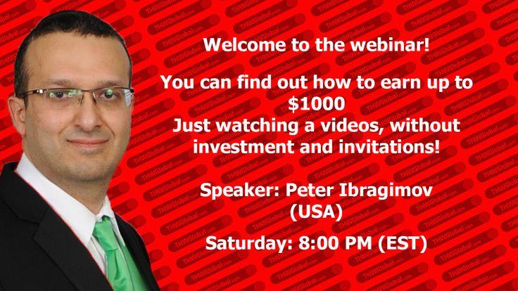 "Invitation to the webinar ""THW GLOBAL presentation for beginners"""