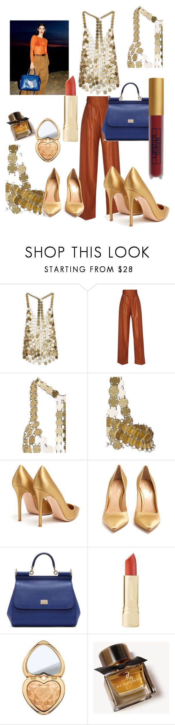 """""""Kendall"""" by fabianajuan ❤ liked on Polyvore featuring Gianvito Rossi, Angelo, Dolce&Gabbana, Too Faced Cosmetics, Burberry and Lipstick Queen"""