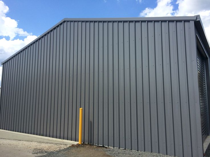 Ranbuild shed. View of the end wall. Built by Kieren Lee Plumbing & Construction 0428690696